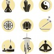 Spirituality icon set - Stock Vector