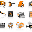 Multimedia icons set - Vettoriali Stock