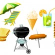 Stock Vector: Barbecue Grill