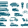 All types of City Transport — Image vectorielle
