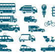 All types of City Transport — Stockvectorbeeld