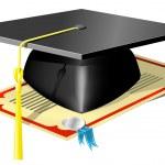 Graduation Mortar Board — Stock Vector