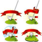 Golf emblems — Stock Vector