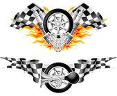 Sports Race Emblems - second set — Stock Vector