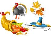 Thanksgiving Symbols — Stock Vector