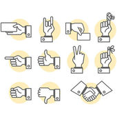 Hand signs — Stockvektor