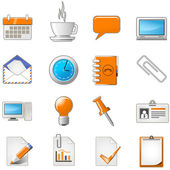 Web page or office theme icon set — Stock Vector