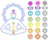Símbolos de chakras — Vector de stock