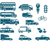 All types of City Transport — Stock Vector