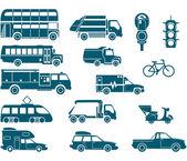 All types of City Transport — Stockvektor