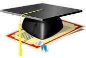Graduation Mortar Board — Stockvektor