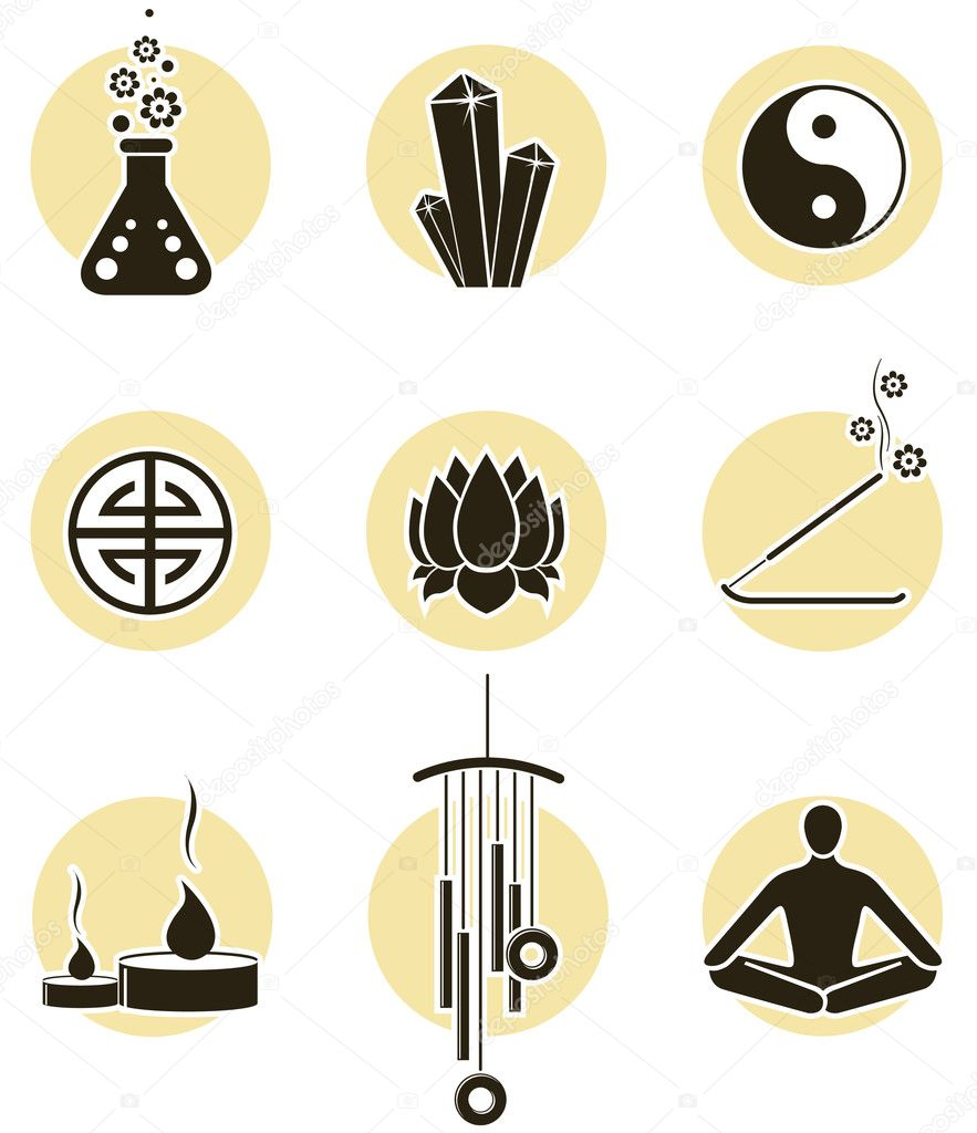 Spirituality icon set — Stock Vector #3761841