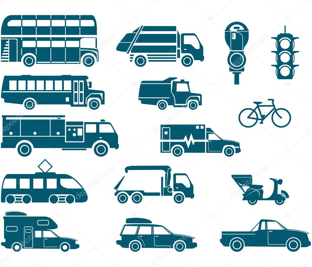 All types of City Transport — Stock Vector #3761856