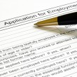 Foto de Stock  : Job application