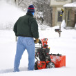 Snow blower — Stock Photo #3845428