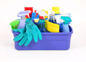 Household cleaning products — Stock Photo