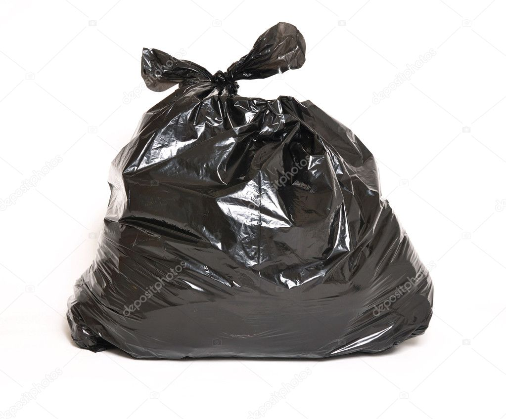 Garbage bag isolated on a white background — Stock Photo #3859975