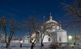 White church. An orthodox female monastery — Stock Photo