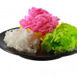 Traditional Thai style colorful dessert — Stock Photo