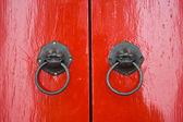 Tradtional asian doors — Stock Photo