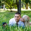 Couple outdoors — Stock Photo #3785647