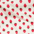 Royalty-Free Stock Photo: Strawberry texture fabric wrinkled
