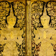 Temple Door Art, at  Wat Phra Singha, Chiangmai Thailand — Stock Photo