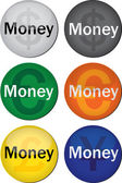 Money button — Stock Vector