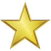 Gold star — Foto Stock