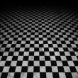 Checkered marble floor — Stock Photo
