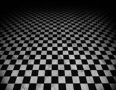 Checkered marble floor — Stock Photo