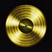 Gold record — Stock Photo