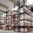 Indoor warehouse - 图库照片