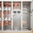 Copper electrical switchboard — Stock Photo #3746148