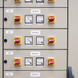 Electrical cubicle panel board — Stock Photo