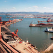 Stock Photo: Industrial harbor