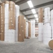 Paper rolls warehouse — Stock Photo #3746851