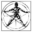 The Vitruvian man — Stock Photo