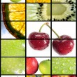 Royalty-Free Stock Photo: Vertical fruits composition