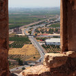 View from the castle of Sagunto - Stock Photo