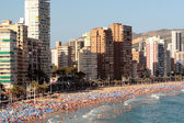 Benidorm beach — Stockfoto
