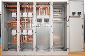 Copper electrical switchboard — Stockfoto