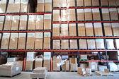 Storage shelves — Stock Photo