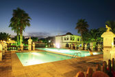 Swimming Pool At Night — Stockfoto