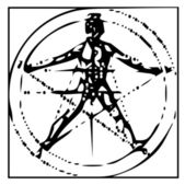 The Vitruvian man — Stockfoto