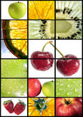 Vertical fruits composition — Stock Photo