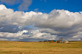 House in field — Stock Photo