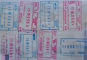 Passport Visas — Stock Photo