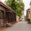 Stock Photo: Deserted small street of resort city of Pjarnu. Estonia