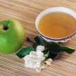 Royalty-Free Stock Photo: Still-life with green tea and an apple